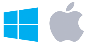 PC Windows and Apple Logos