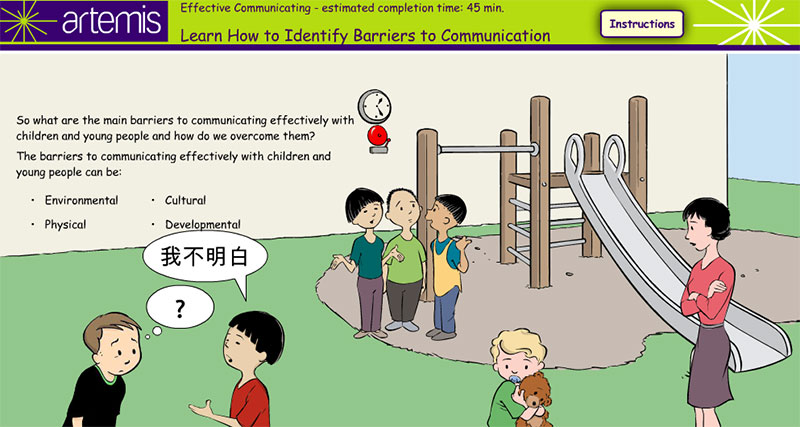 Effectively Communicating with Children Elearning Example