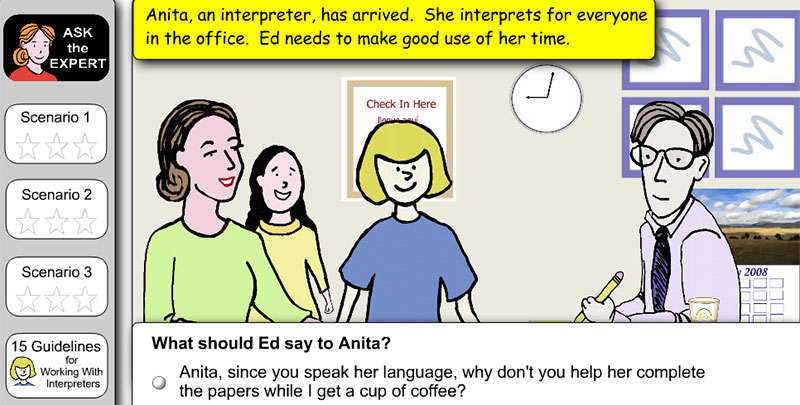 Working with Interpreters Elearning Example