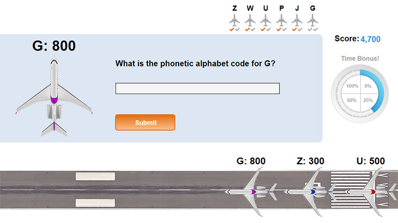 Phonetic Code Word Game Elearning Example