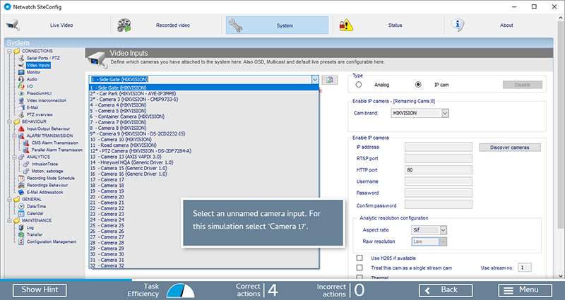 Sofware Simulation - SmartBuilder Elearning Screenshot